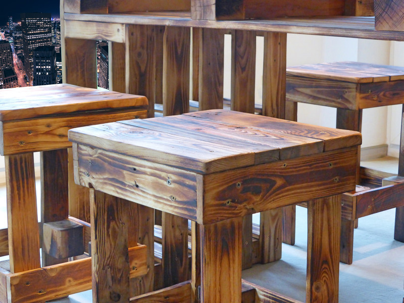 Paletten Tisch  Palettenmoebel Sitzgruppe – Paletten Tisch & Hocker