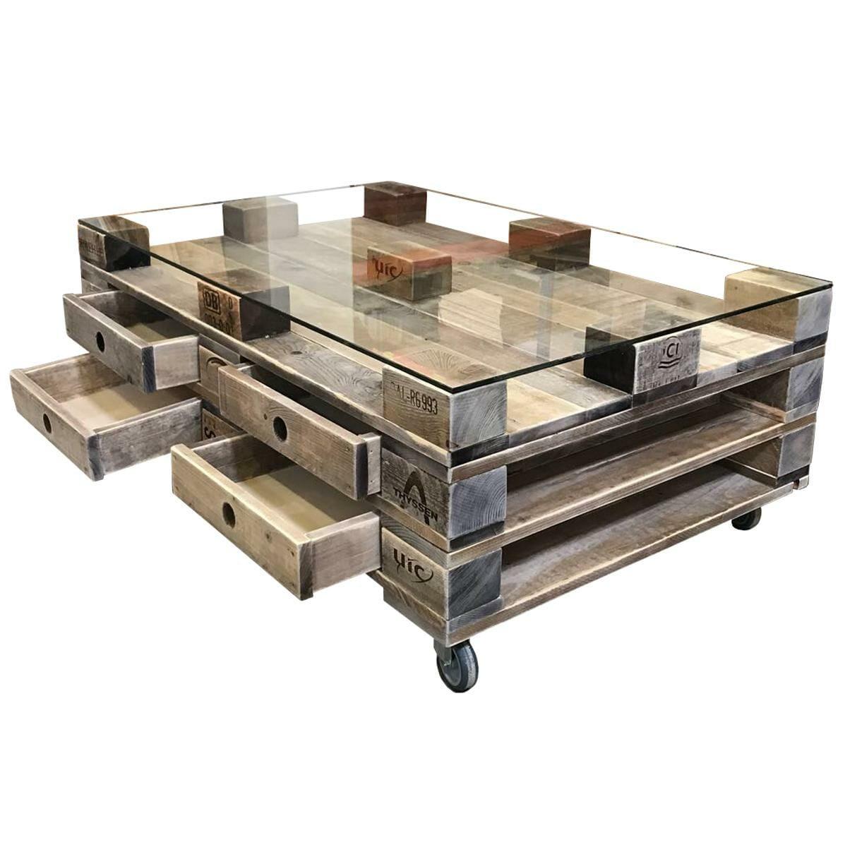 Paletten Tisch  Palettentische bauen & kaufen