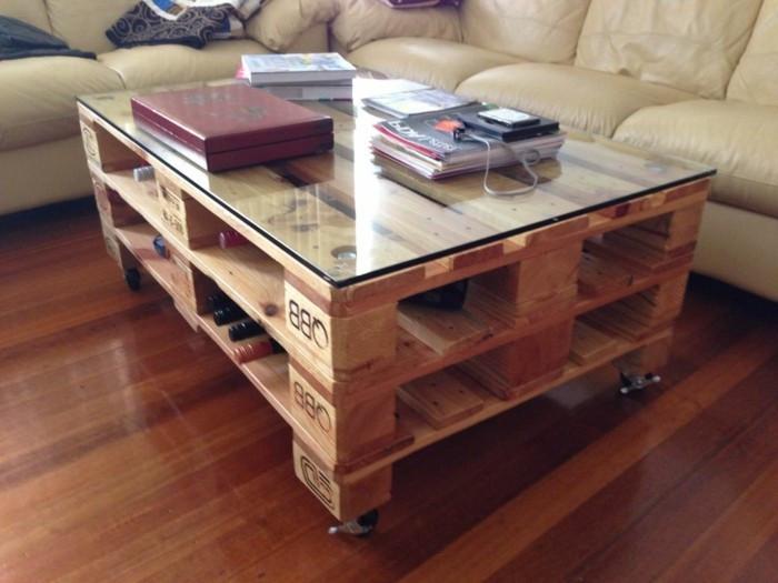 Paletten Tisch  Tisch selber bauen über 80 kreative Vorschläge