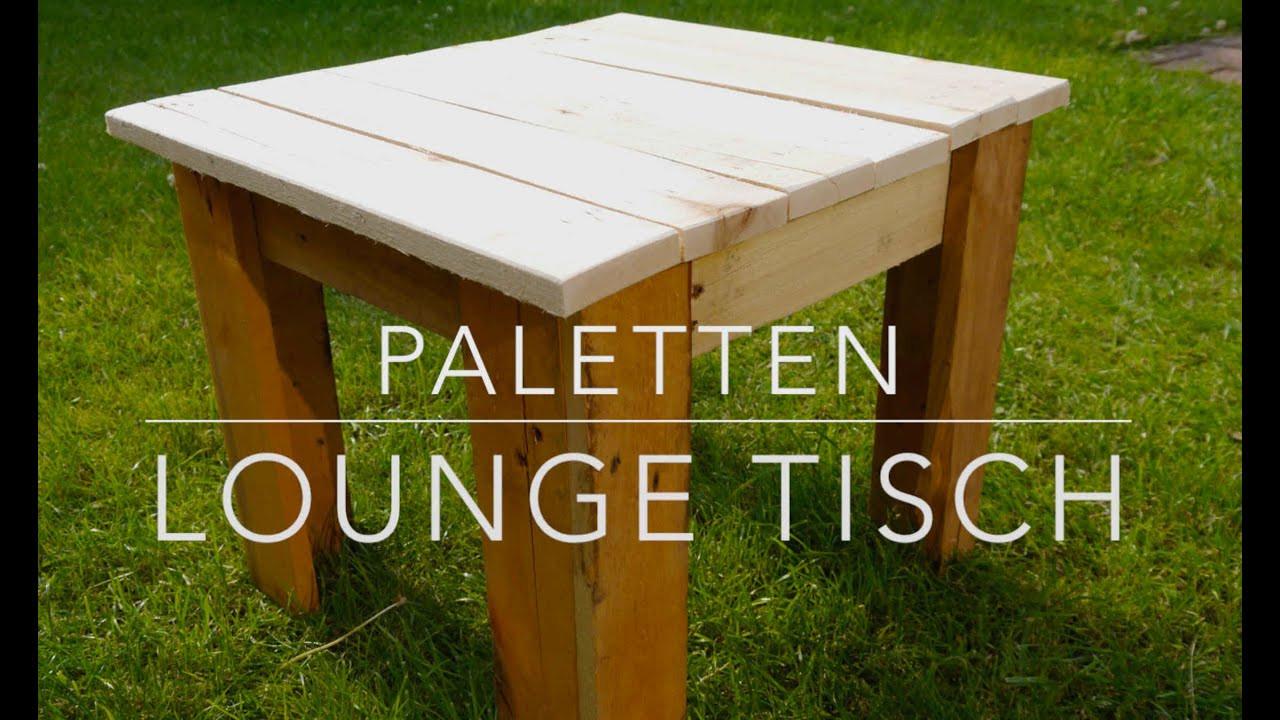 Paletten Tisch  DIY Paletten Lounge Tisch selbst gemacht
