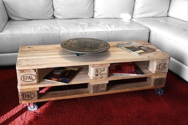 Paletten Tisch  Tisch aus Paletten