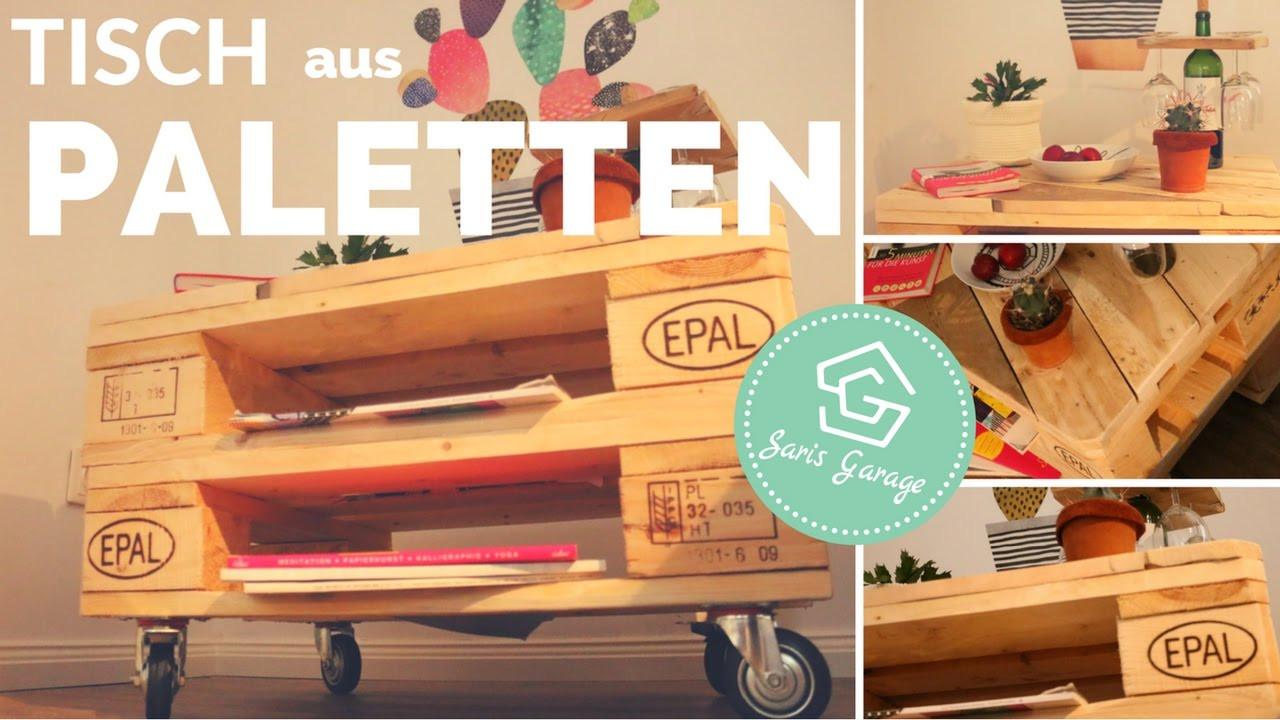 Paletten Tisch  Palettentisch selber bauen Tisch aus Europaletten DIY
