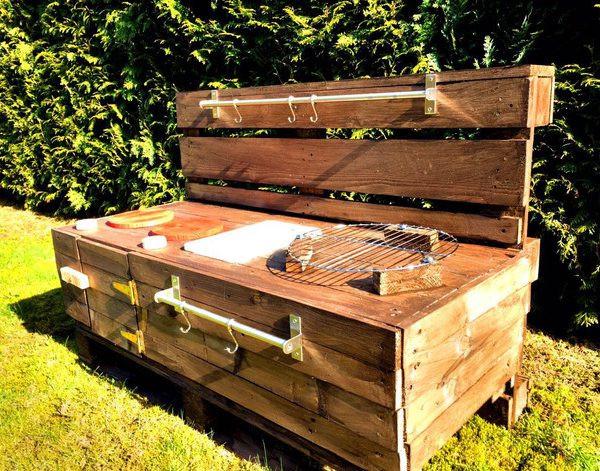 Palettenmöbel Garten  Palettenmöbel Kinderküche BL aus Holz für Garten