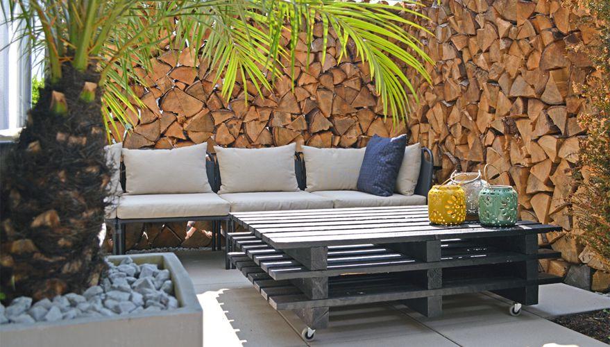 Palettenmöbel Garten  Palettenmöbel selber bauen kreative DIY Idee für den