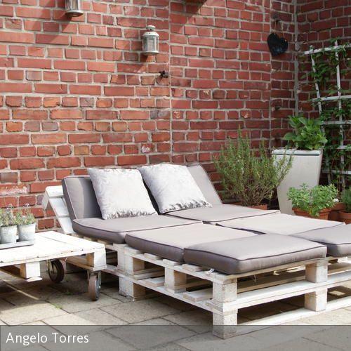 Palettenmöbel Garten  Gartenmöbel aus Paletten Garten