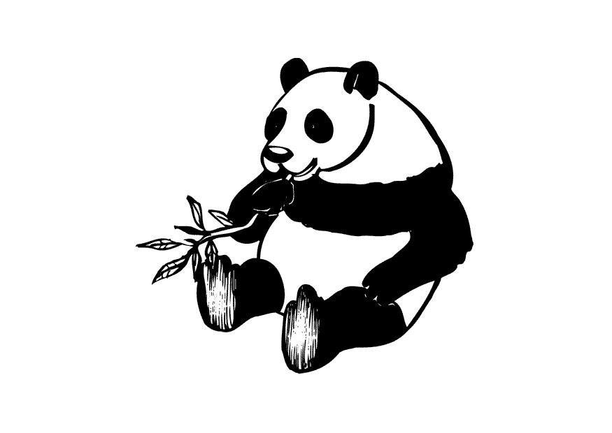 Panda Ausmalbilder  Coloriage le panda img
