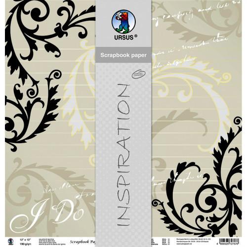 """Papier Hochzeit  Premium Glitter Scrapbooking Papier """"Hochzeit"""" 30 5 x 30 5"""