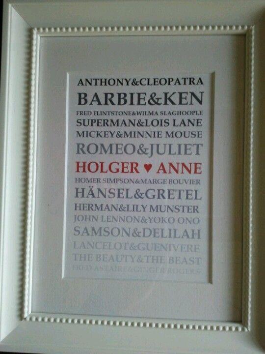 Pärchen Geschenke Selber Machen  Pärchen geschenke selber machen – L immagine della