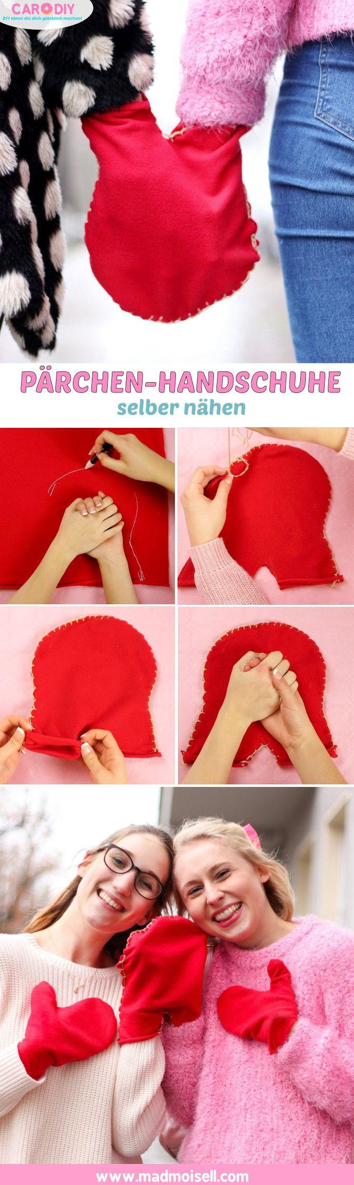 Pärchen Geschenke Selber Machen  Pärchen Handschuhe selber nähen DIY Geschenke für Freund