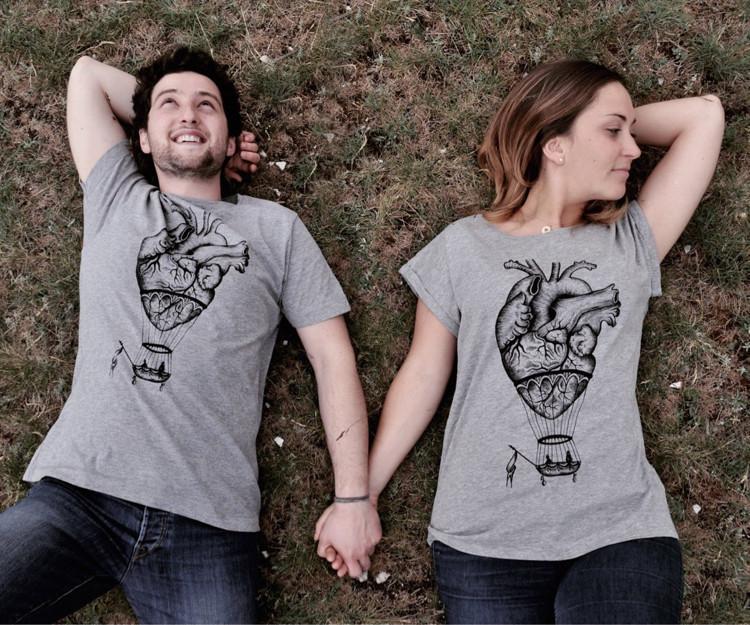 Pärchen Geschenke Selber Machen  Pärchen T Shirts selbst gestalten 11 coole Design Ideen
