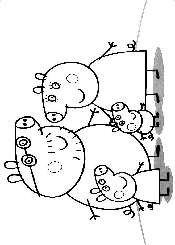 Peppa Pig Ausmalbilder  Kids n fun