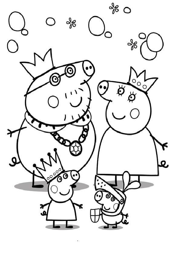 Peppa Pig Ausmalbilder  ausmalbilder peppa wutz Druckvorlagen