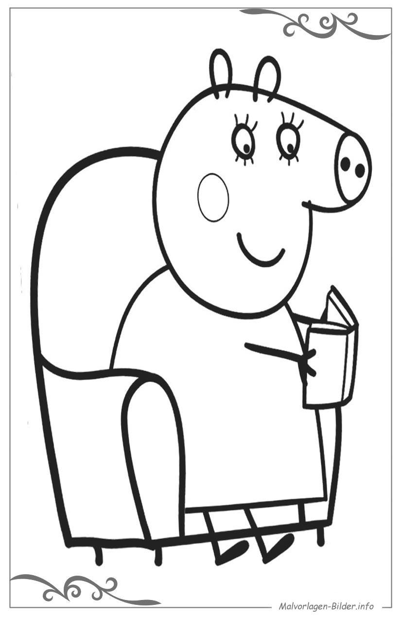 Peppa Pig Ausmalbilder  Peppa Wutz ausmalbilder zum ausdrucken