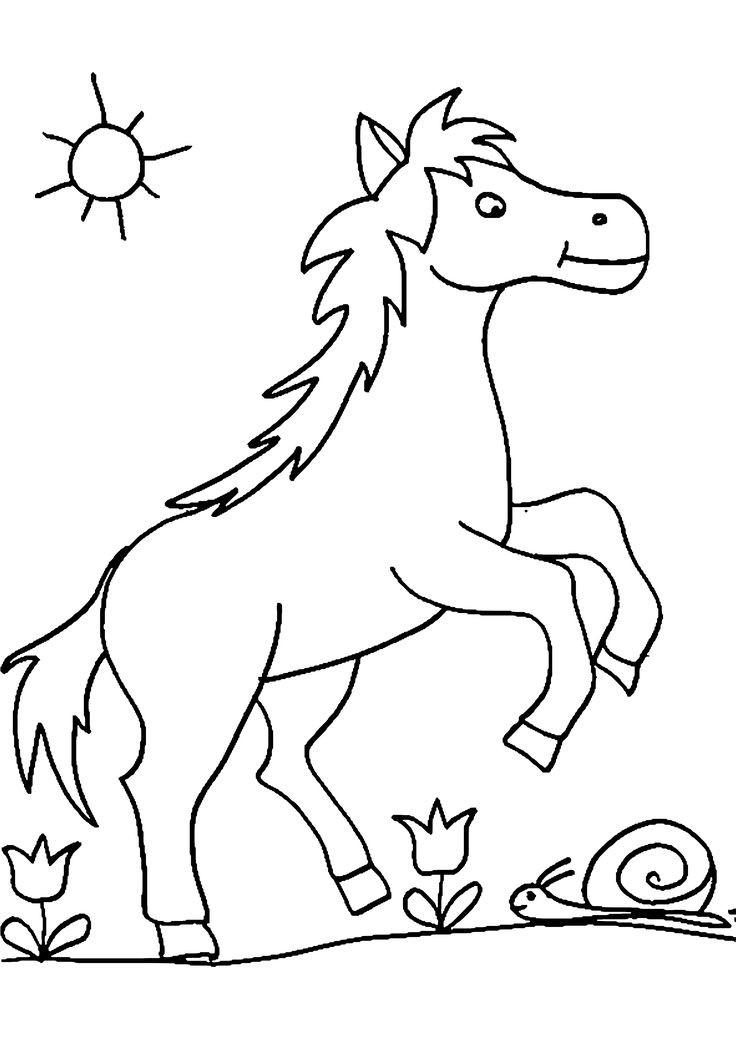 Pferde Ausmalbilder  Die besten 25 Ausmalbilder pferde Ideen auf Pinterest