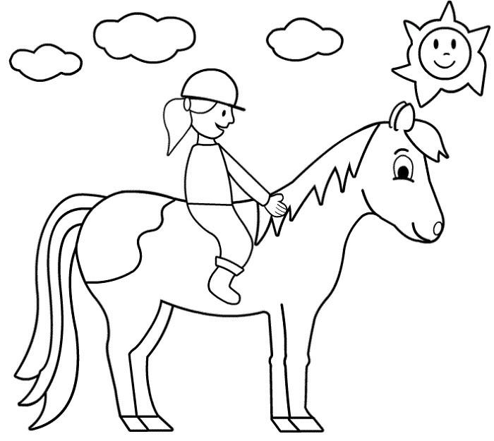 Pferde Ausmalbilder  Pferde ausmalbilder 8