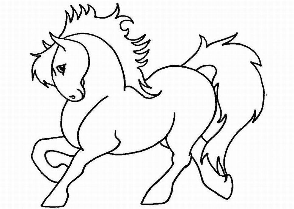 Pferde Ausmalbilder  Ausmalbilder für Kinder Malvorlagen und malbuch