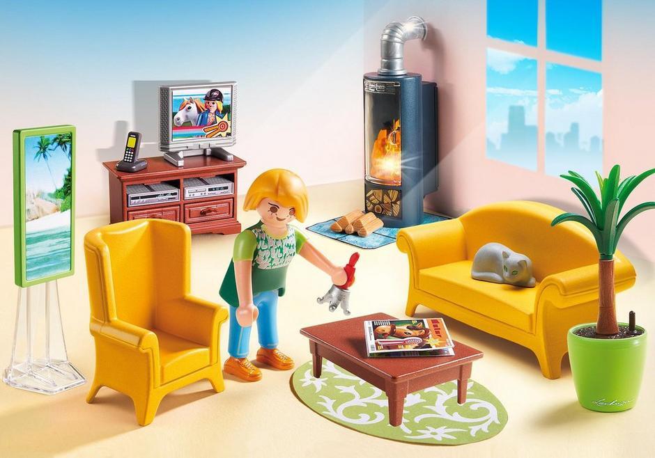 Playmobil Wohnzimmer  Wohnzimmer mit Kaminofen 5308 PLAYMOBIL Deutschland