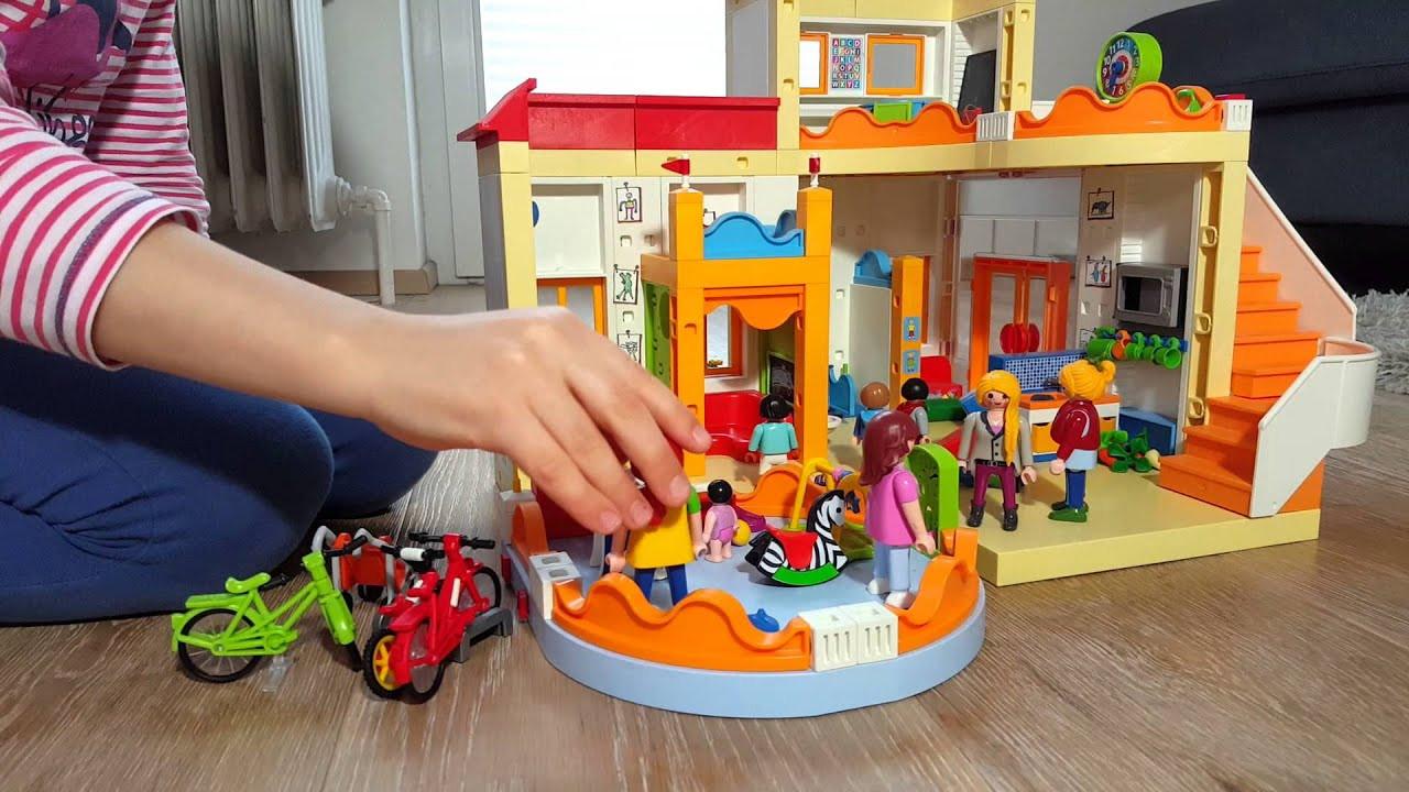 Playmobil Wohnzimmer  Playmobil spielen Kita und Wohnzimmer