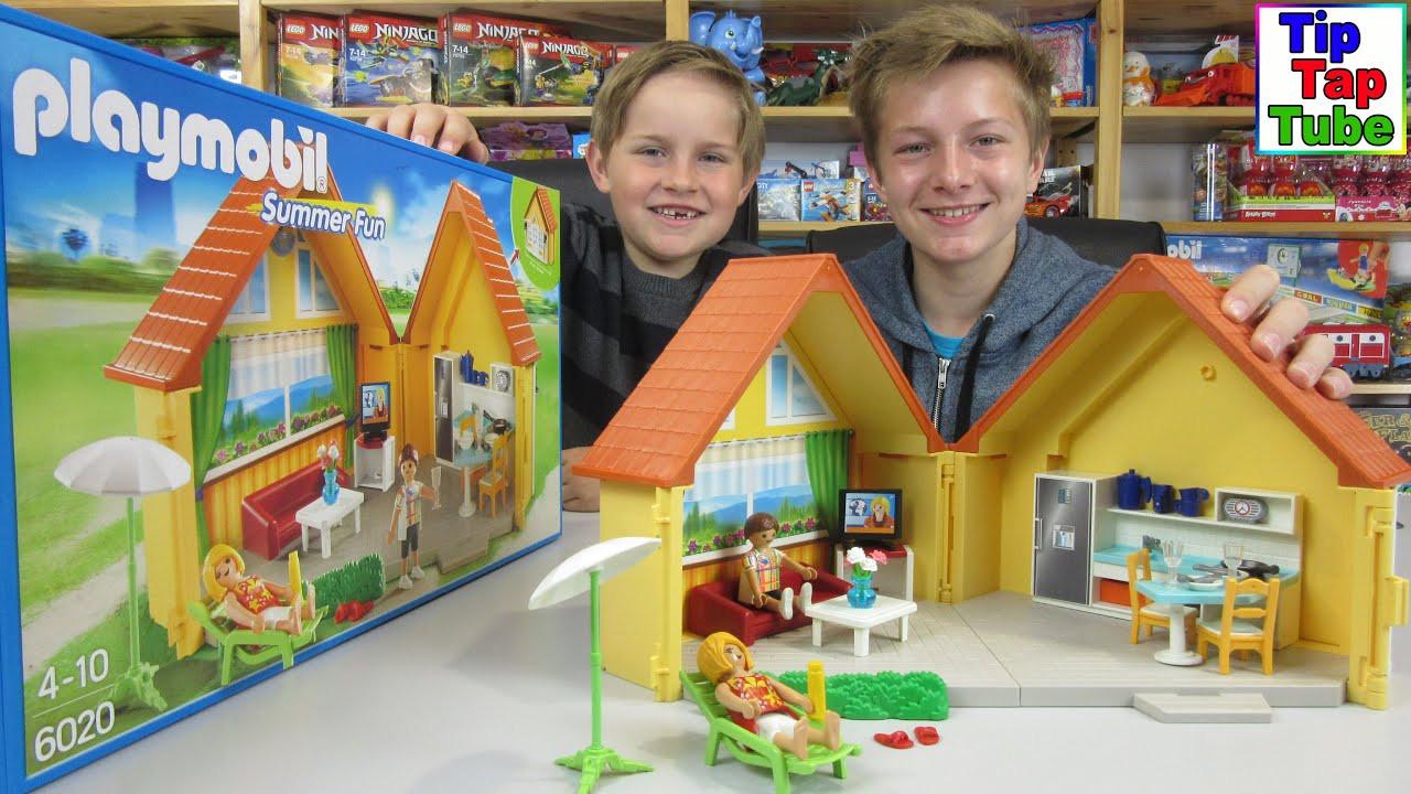 Playmobil Wohnzimmer  Playmobil Summer Fun Aufklapp Ferienhaus Küche Wohnzimmer