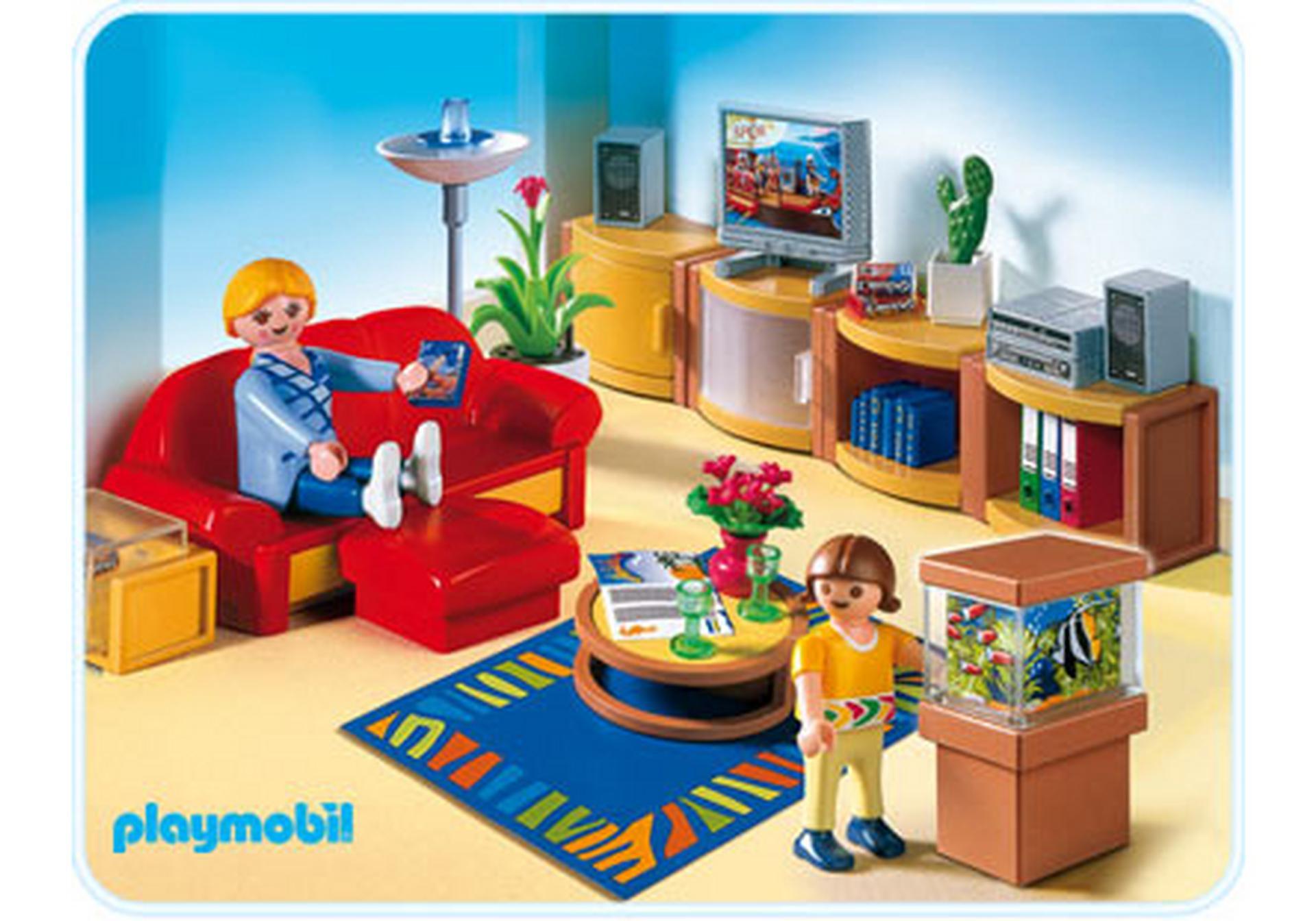 Playmobil Wohnzimmer  Sonniges Wohnzimmer 4282 A PLAYMOBIL Deutschland