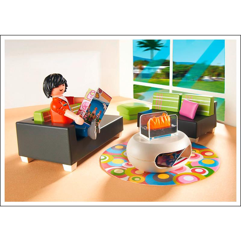 Playmobil Wohnzimmer  PLAYMOBIL 5584 Wohnzimmer