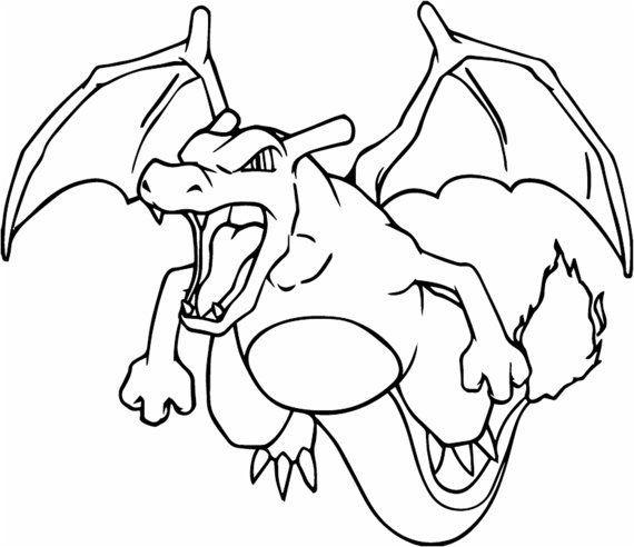 die besten ideen für pokemon ausmalbilder glurak  beste