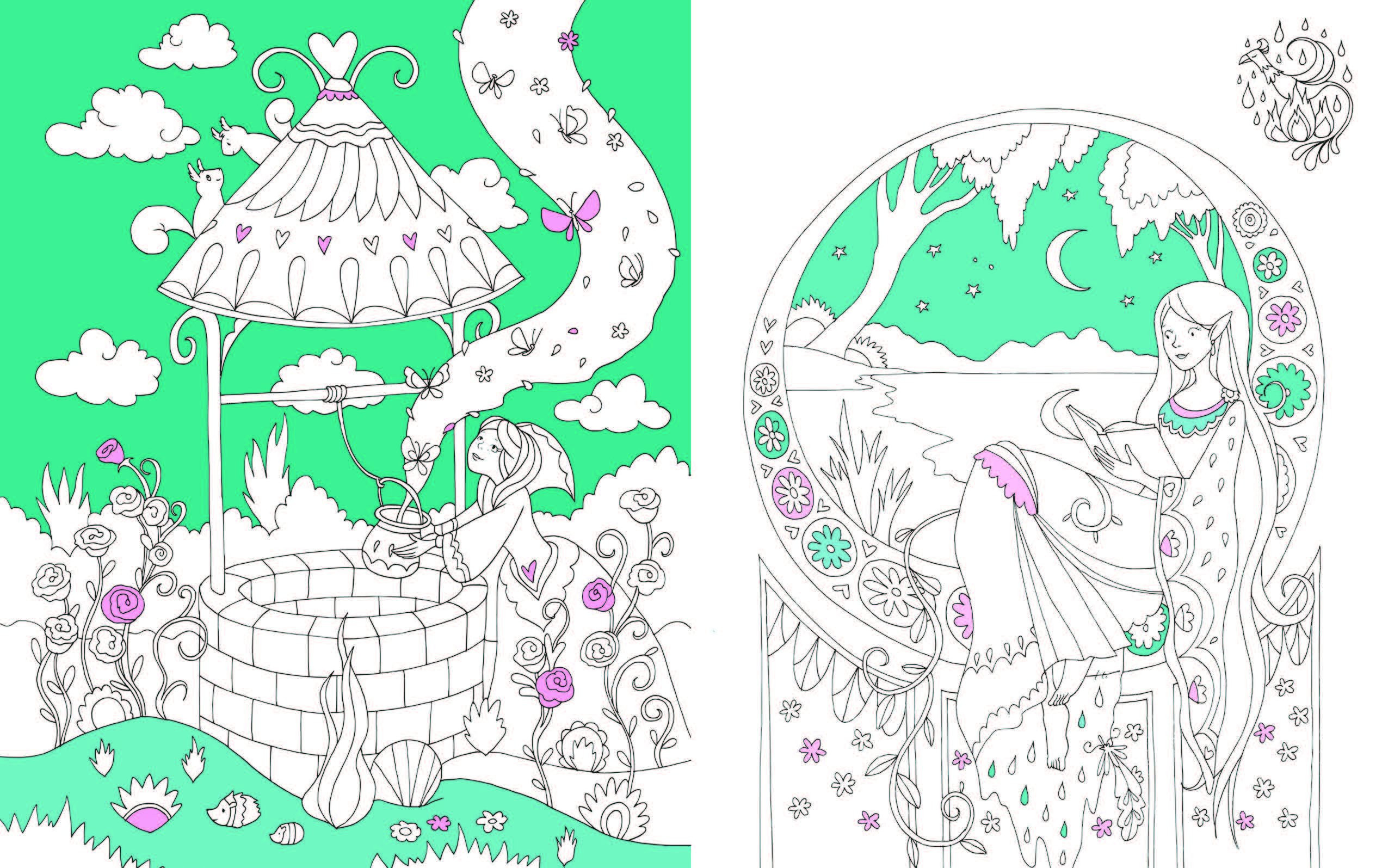Prinzessin Garten  Das Geheimnis Der Prinzessin Ein Magisches Malbuch Amazon