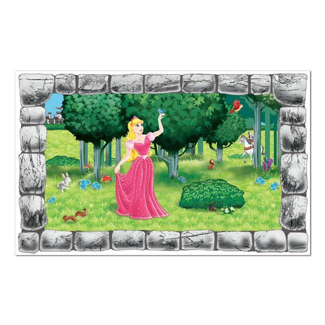 """Prinzessin Garten  Wanddeko """"Fenster zum Garten der Prinzessin"""" 157 cm"""