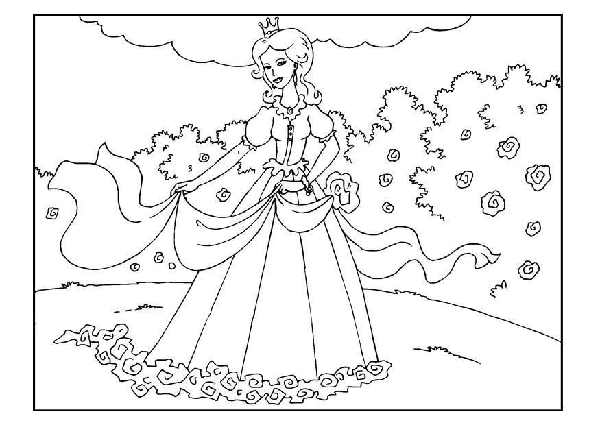 Prinzessin Garten  Malvorlage Prinzessin im Garten