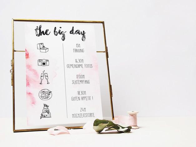 Programm Hochzeit  Hochzeitskarten ABLAUFPLAN für Eure HOCHZEIT Programm