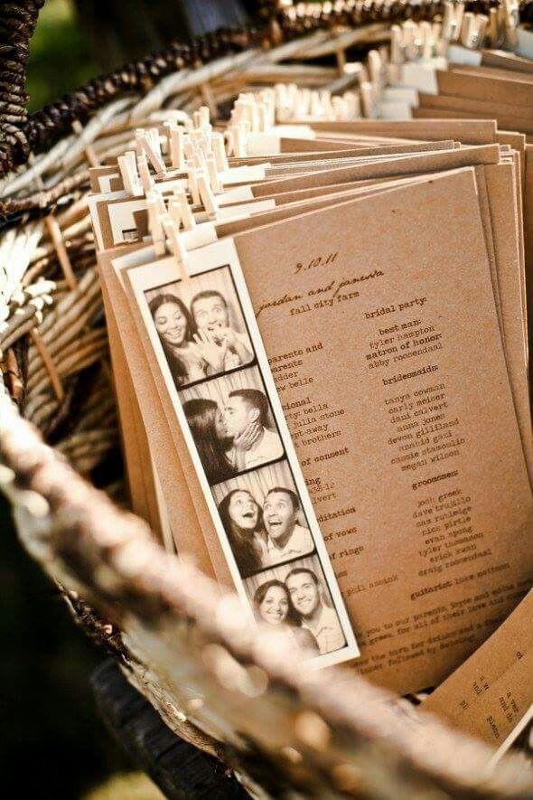 Programm Hochzeit  Programm hochzeit mit photostreifen vom brautpaar