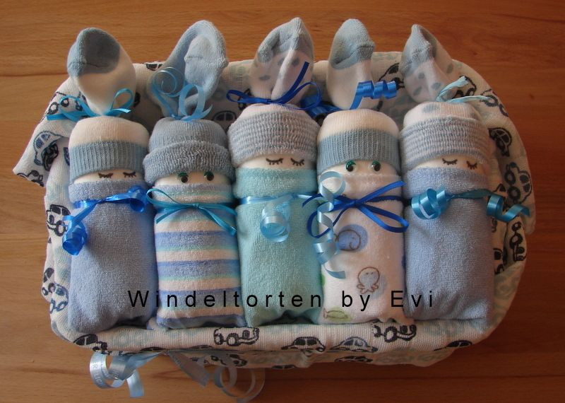 Pullerparty Geschenke  Windelbabys Boy etwas andere Windeltorte von