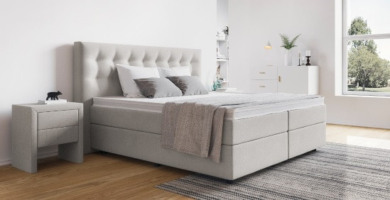 Queensize Bett  Queensize Bett online kaufen BOXSPRING WELT