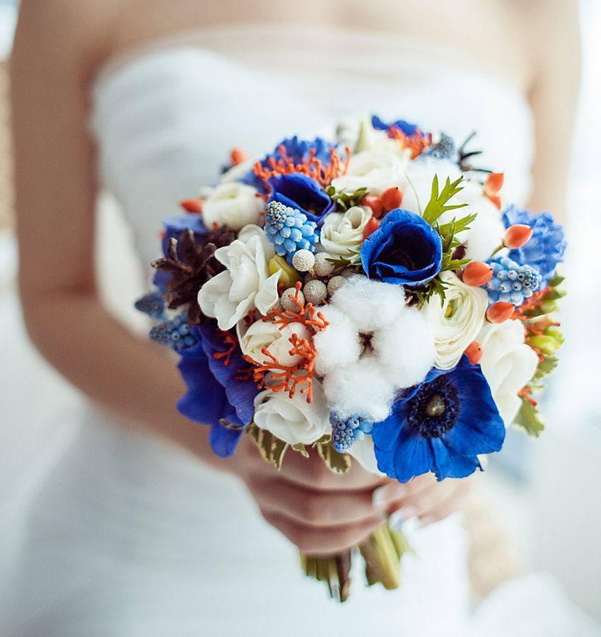 Ranunkel Brautstrauß  Brautstrauß mit Anemonen und Baumwolle Bilder Madame