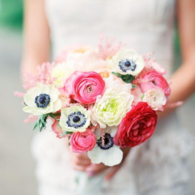 Ranunkel Brautstrauß  Brautstrauss Ranunkeln Anemonen weiss rosa