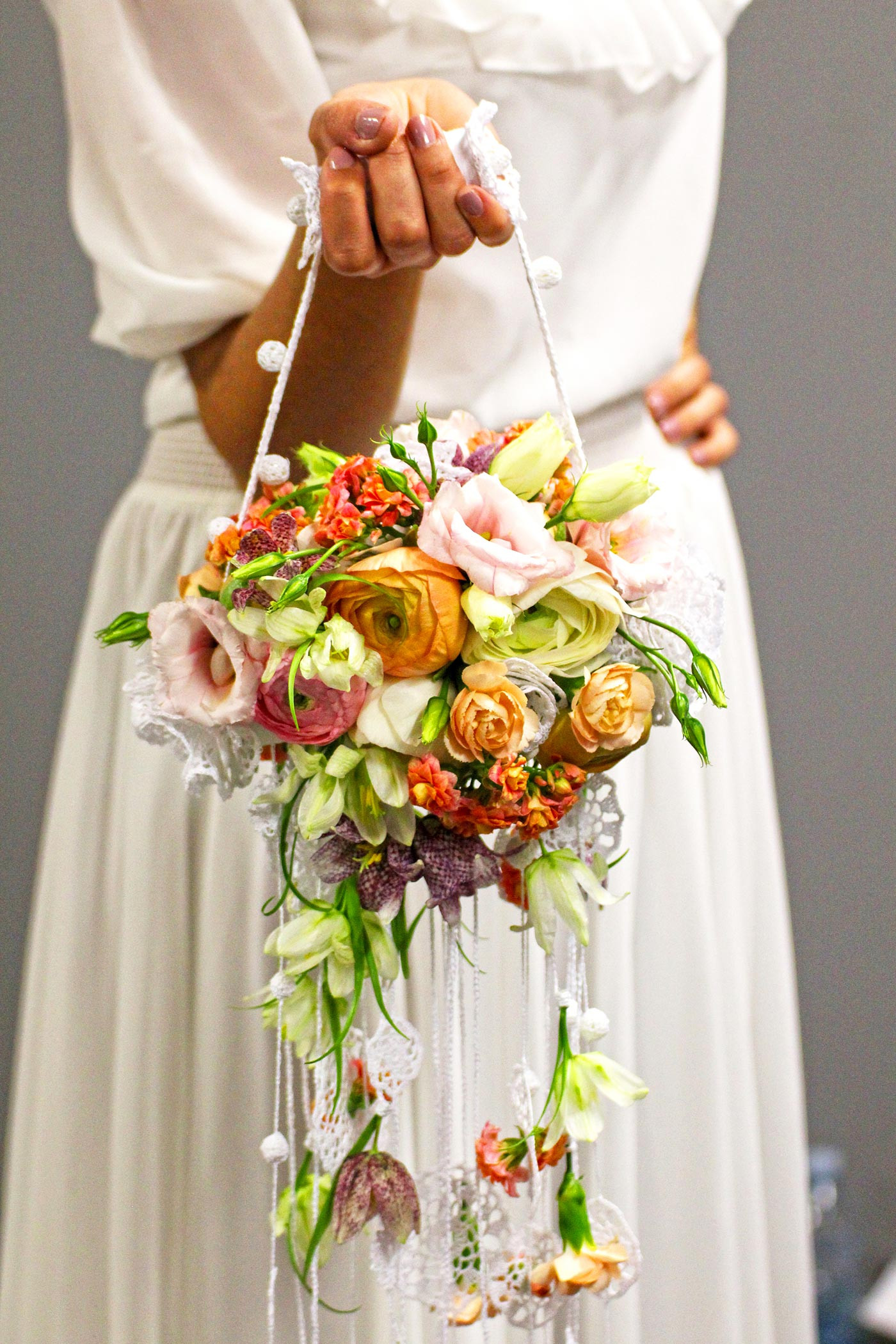 Ranunkel Brautstrauß  Brautstrauß im Vintage Stil mit Ranunkel