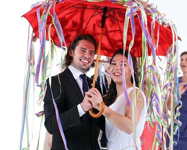 Regenschirmtanz Hochzeit  Regenschirmtanz