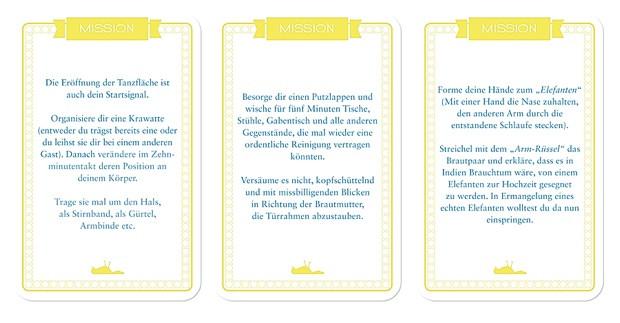 Reise Nach Jerusalem Hochzeit  Chaoskarten 51 verrückte Hochzeitsmissionen Lieschen