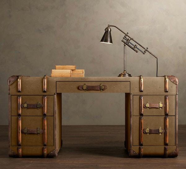 Retro Schreibtisch  Vintage Möbel Design und Dekoration