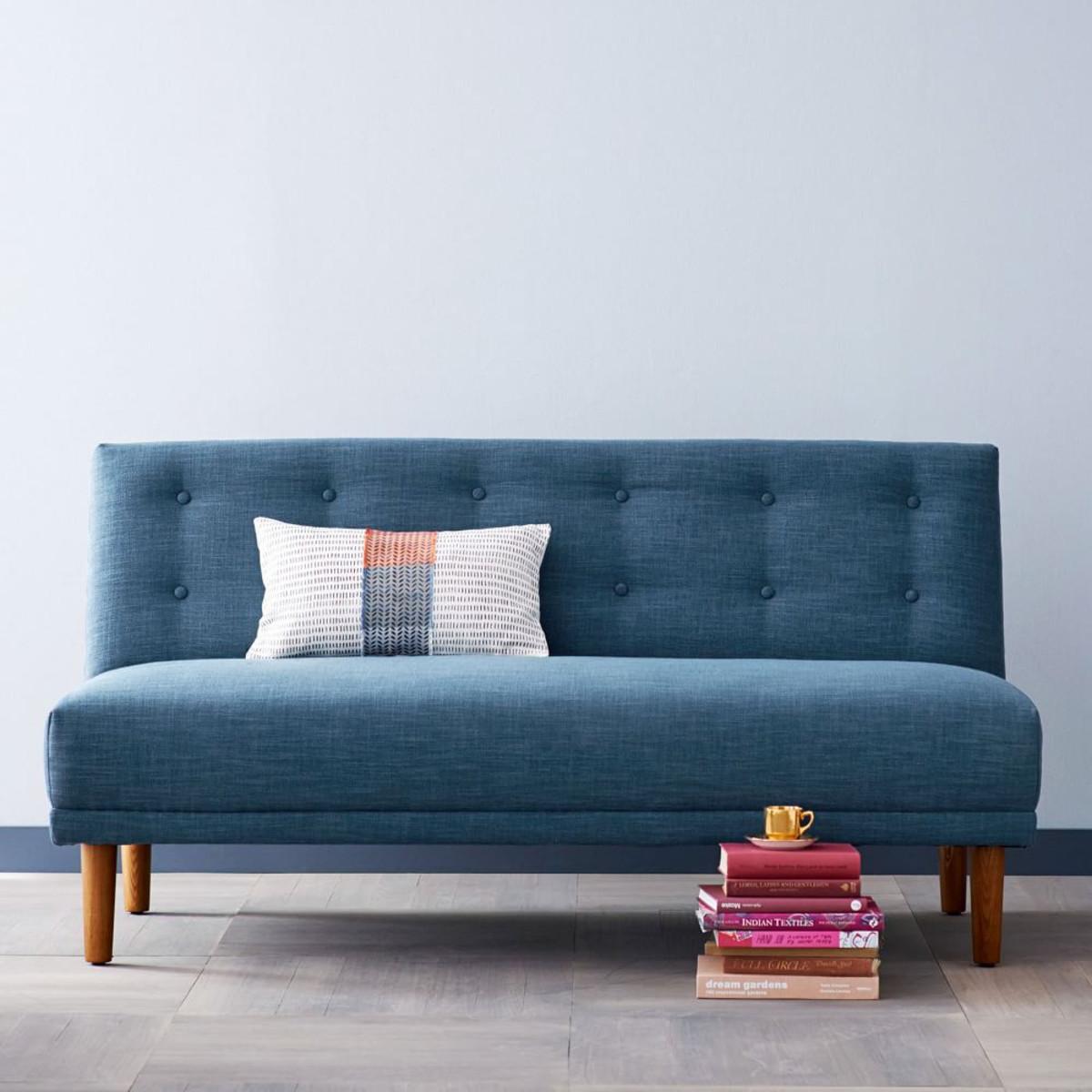 Retro Sofa  Rounded Retro Armless Sofa