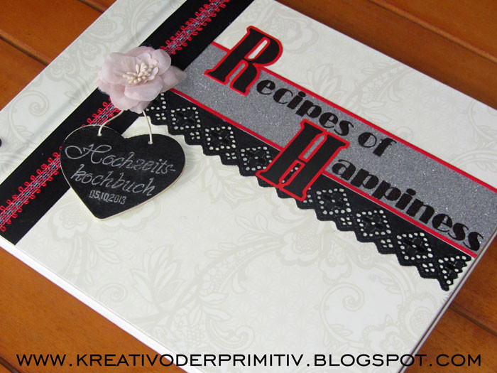 Rezeptbuch Hochzeit  Kreativ oder Primitiv Rezeptbuch der Gäste zur Hochzeit