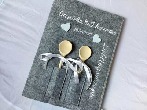 Rezeptbuch Hochzeit  Weiteres Rezeptbuch A 4 Hochzeit ein Designerstück