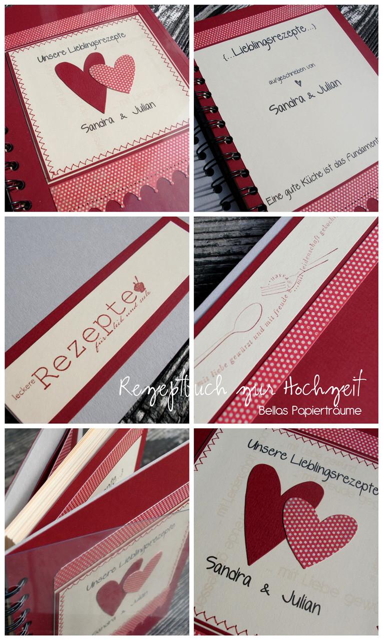 Rezeptbuch Hochzeit  Bellas Papierträume Rezeptbuch zur Hochzeit