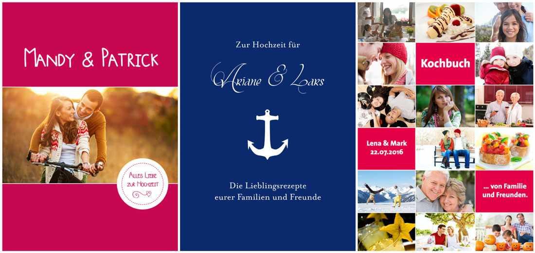 Rezeptbuch Hochzeit  Kochbuch Zur Hochzeit Schön Persönliches Fotokochbuch