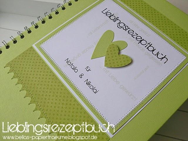 Rezeptbuch Hochzeit  Bellas Papierträume Lieblingsrezeptbuch Hochzeit °11