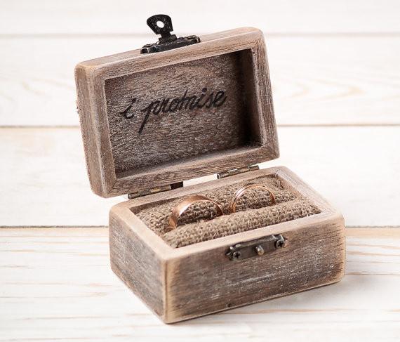 Ringbox Hochzeit  Ring Bearer Box Wedding Ring Box Rustic Wedding Ring Holder