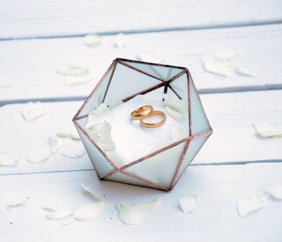Ringbox Hochzeit  Hochzeit Ring Halter Hochzeit Ring Box geätzten Glas