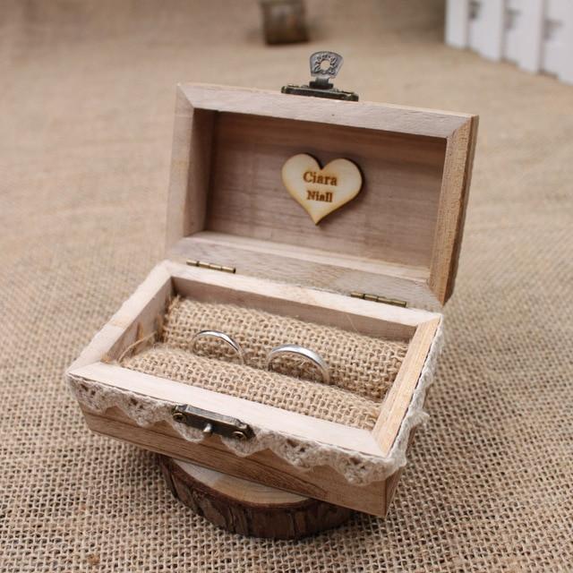 Ringbox Hochzeit  Rustic Wedding Ring Box Holder Custom Ring Box