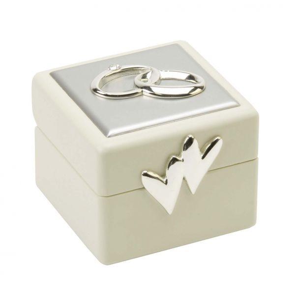 Ringbox Hochzeit  Die versilberte Ringbox zur Hochzeit geschenkBOX