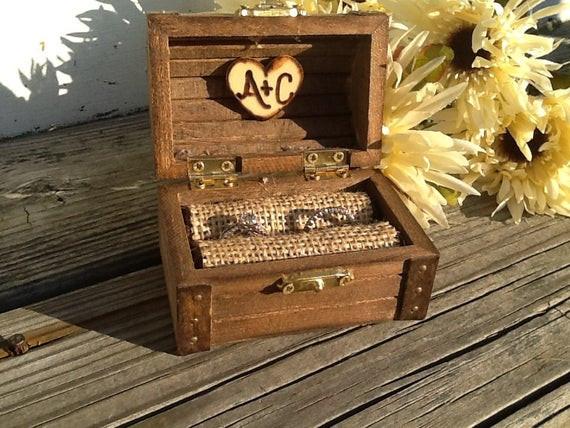 Ringbox Hochzeit  Rustikale Hochzeit Ring Box nautische Seite von PineNsign